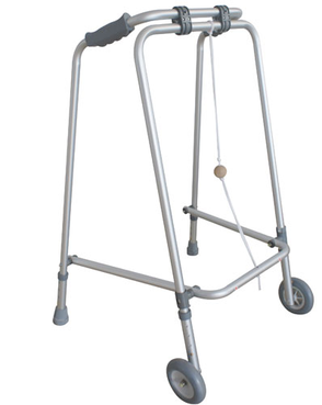 Breezy Non Folding Walking Frame with wheels (large model)