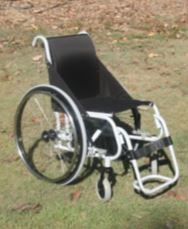 KIS Mk2 Manual Wheelchair - shown with lift off footplate