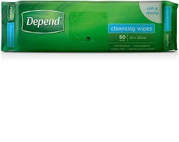 Depend Cleansing Wipes