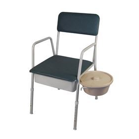 K-Care Bedside Commode with Swing Away Bucket