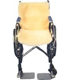 Sheepskin wheelchair cover