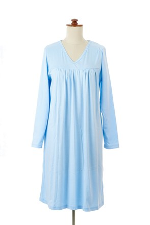 Long sleeved nightie (front view)