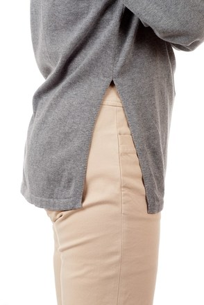 Men's jumper with side openings