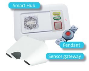 Smart Hub, Sensor gateway and Wrist pendant