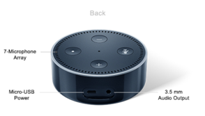 Amazon Echo Dot Rear Buttons and Ports