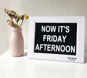 Dawn 8 inch Digital Calendar Day Clock