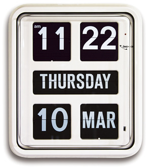 Day of the week Calendar Clock