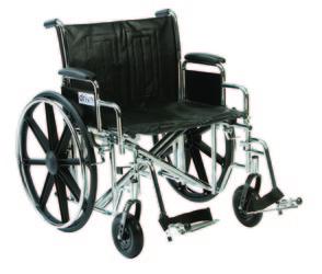 Sentra Heavy Duty Manual Wheelchair (unfolded)