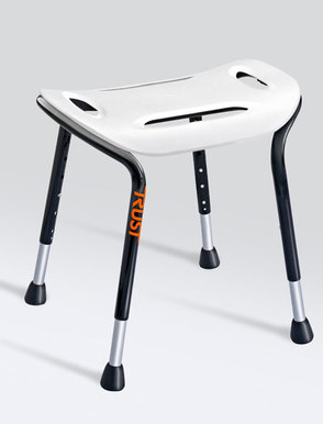 TrustCare Let's Sing Wide Shower Stool - white