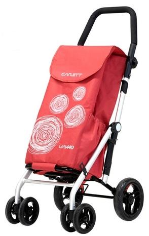 Carlett Lett440 Folding Shopping Trolley - Red Velvet colour
