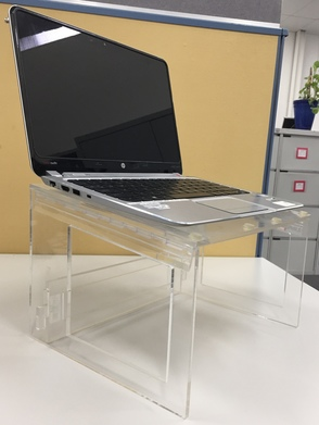 Acrylic Laptop Stands - folding model (shown with laptop)