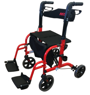 Redgum Crossover Transit Chair / Walker - shown in transport chair configuration