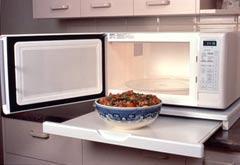 Microwave Stealth Shelf - Designer White