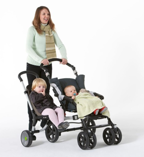 Buggypod io - attached to pram, in use