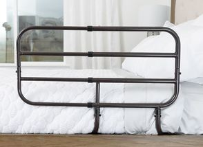 Able Life Bedside Extend-A-Rail - installed on a bed