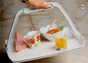 Homecraft Freehand Tray With Non Slip Mat