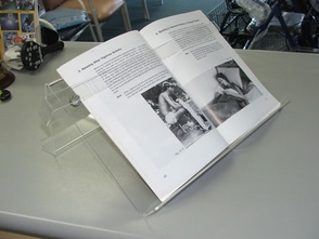 Angled Perspex Book Stand