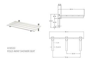 Aqua Concepts Fold Away Shower Seat