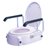 PR04566 AusCare Raised Toilet Seat with Swing Back Arms