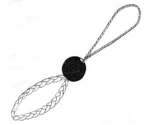 Walking stick wrist strap.