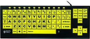 Black on yellow keys