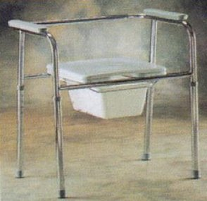 Extra wide commode