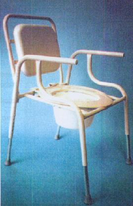 PCP over toilet frame/commode