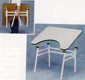 Rolyan Economy Treatment Table Folded and Standing