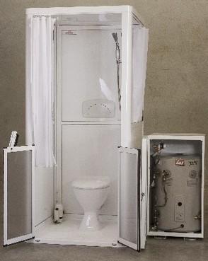 Careport shower/toilet system