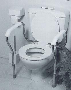 Over toilet safety frame