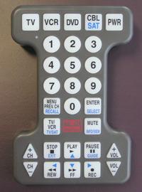 PR12237 Tek Partner Extra Large Universal TV Remote Control