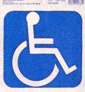 Self adhesive Disability Sign