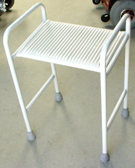 Auscare Shower Stool with Webbed Seat