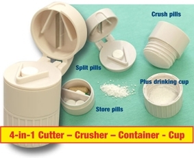 4 in 1 pill container and its components