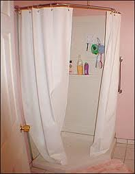 Weighted Shower Curtains.