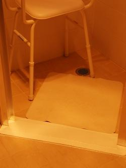 Water Stop ramp for shower without Ramp.