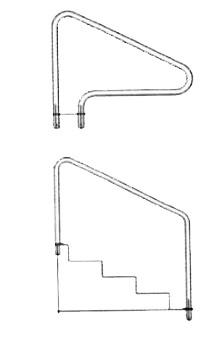 Custom Made Pool Hand Rails and Grab Rails