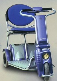Caddy 3 wheeled scooter