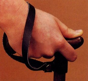 Leather wrist strap.
