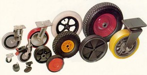 Range of Castors and wheels.