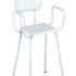 K-Care adjustable height shower stool with padded seat and backrest and arms - KF22210
