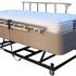 Hi-Lo Flex Bed - with mink skirt and side rails