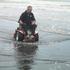 Atom Petrol Powered Wheelchair - in use