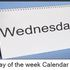 Day of the week calendar