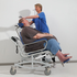 Tilting function and size demonstration for the XXL Rehab tilting shower commode