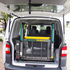 VW transporter with rear vertical lifting platform