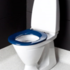Blue toilet seat without lid