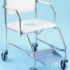 K-Care Maxicare Mobile Shower Commode with sliding footplate