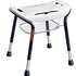 TrustCare Let's Sing Wide Shower Stool - white, with optional storage basket