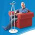 Crutch Caddy - in use with person seated in chair